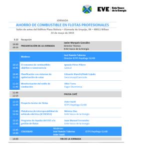 22 de mayo en el Ente Vasco de la Energía (EVE).